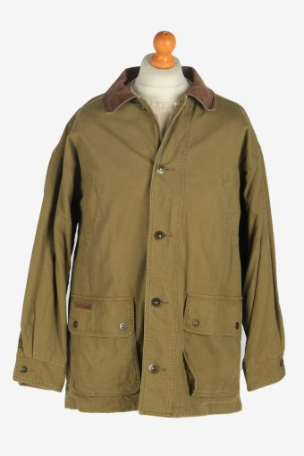 Mens Timberland Weathergear Jacket Vintage Size L Khaki C2477