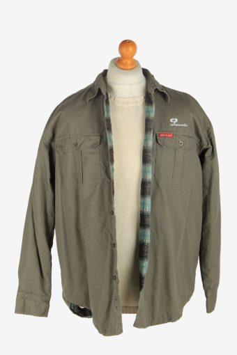Mens Dickies Outdoor Shirt Jacket Vintage Size L Light Green C2481-157781