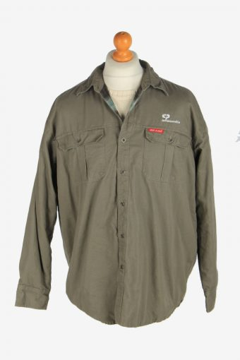 Mens Dickies Outdoor Shirt  Jacket Vintage Size L Light Green C2481