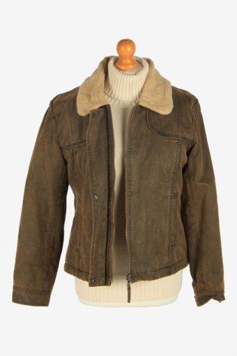 Womens Pilot Sherpa Jacket Vintage Size M Brown C2483-157896