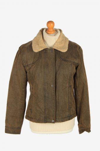 Womens Pilot Sherpa  Jacket Vintage Size M Brown C2483