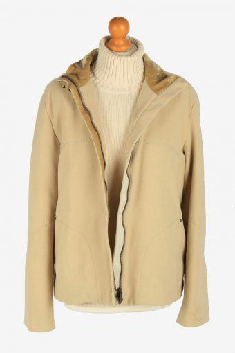 Womens Versace Sport Fleece Jacket Vintage Size L Beige C2484-157796