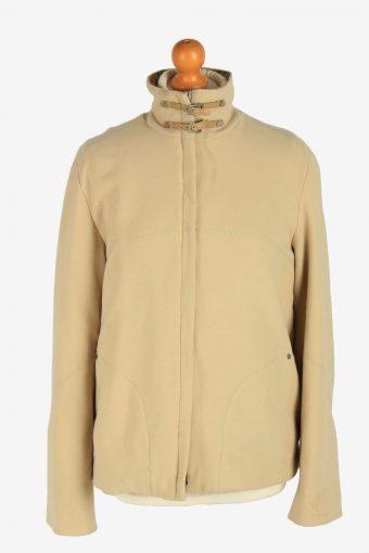 Womens Versace Sport Fleece Jacket Vintage Size L Beige C2484