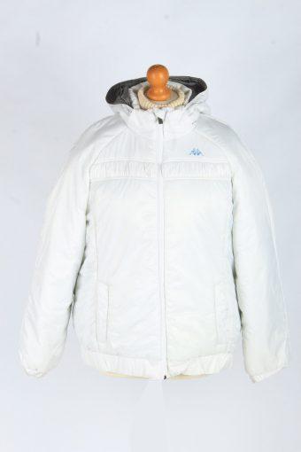 Womens Kappa Puffer Jacket Vintage Size XL White C2486