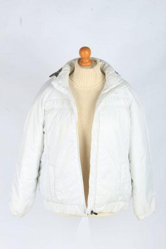 Womens Kappa Puffer Jacket Vintage Size XL White C2486-157911