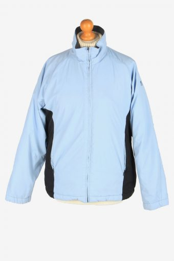 Womens Kappa Puffer Jacket Vintage Size M Blue C2489