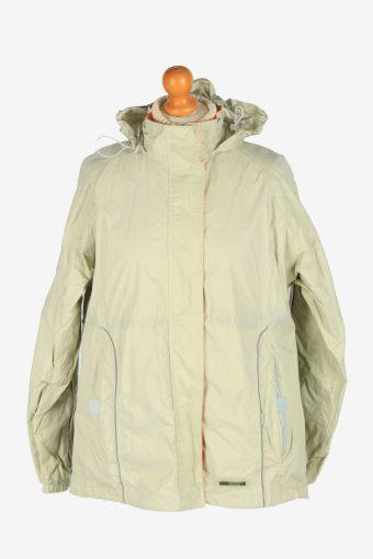 Womens K. Way Windbreaker Jacket  Vintage Size L Beige C2492