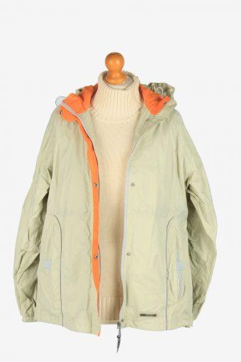 Womens K. Way Windbreaker Jacket Vintage Size L Beige C2492-157941