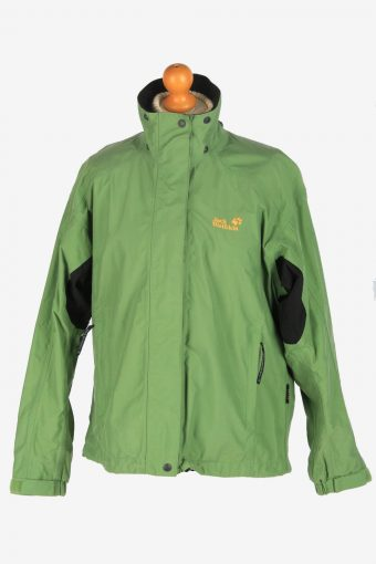 Womens Jack Wolfskin Texapore Breathable Jacket Vintage Size L Green C2495