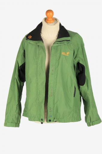 Womens Jack Wolfskin Texapore Breathable Jacket Vintage Size L Green C2495-157956