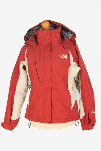 Womens The North Face Hyvent Hooded Jacket Vintage Size S Burgundy C2496
