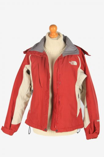 Womens The North Face Hyvent Hooded Jacket Vintage Size S Burgundy C2496-157961