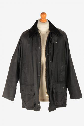 Mens Barbour Beauford Waxed Coat Vintage Size XL Dark Grey C3005-163170