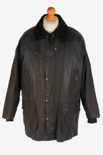 Mens Barbour Warm Pile Waxed Coat Vintage Size XL Dark Brown C3007