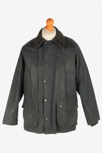 Mens Barbour Bedale Jacket Waxed Coat Vintage Size M Fume C3012