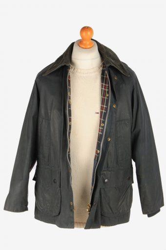 Mens Barbour Bedale Jacket Waxed Coat Vintage Size M Fume C3012-163212