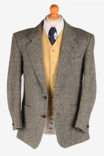 Harris Tweed Mens Blazer Jacket Herringbone Country Size L Grey -HT2920-165446