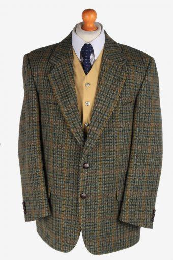 Harris Tweed Blazer Jacket Classic Windowpane Green L