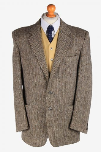Harris Tweed Blazer Jacket Herringbone XL