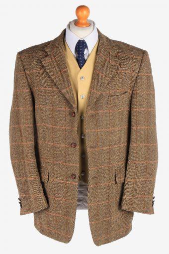 Harris Tweed Mens Blazer Jacket Windowpane Country Size XL Multi -HT2942-165578