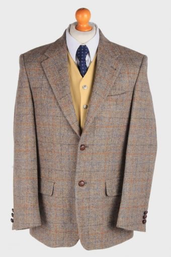 Harris Tweed Blazer Jacket Classic Windowpane M