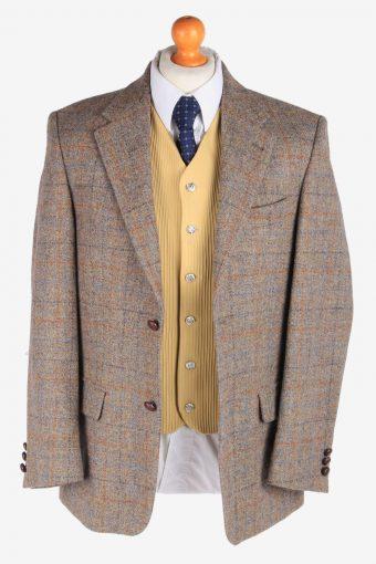 Mens Harris Tweed Blazer Jacket Windowpane Country Vintage Size M Multi -HT2952-165639