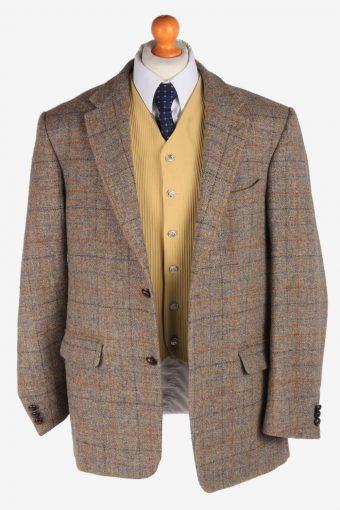 Harris Tweed Mens Blazer Jacket Windowpane Country Size XL Multi -HT2960-165687