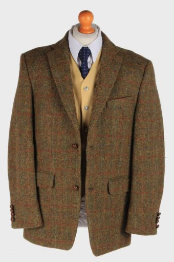 Harris Tweed Mens Blazer Jacket Windowpane Country Size XL Green -HT2964-165711