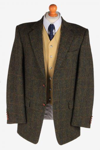 Harris Tweed Mens Blazer Jacket Windowpane Country Size XL Green -HT2966-165723