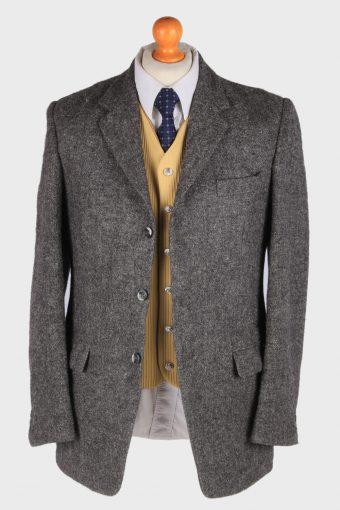 Mens Harris Tweed Blazer Jacket Herringbone Country Size M Grey -HT2998-165916