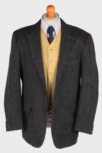 Harris Tweed Mens Blazer Jacket Herringbone Country Size XL Dark Grey -HT3005-165958