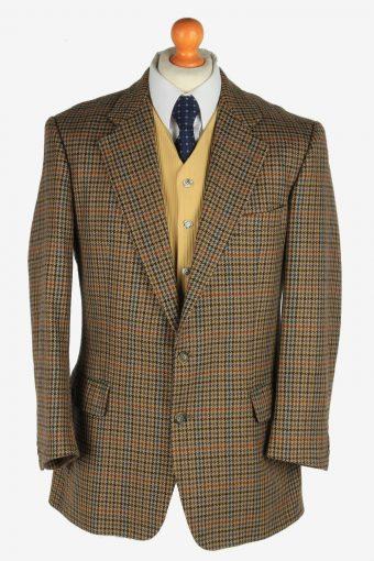 Burberry Blazer Jacket Windowpane Wool M