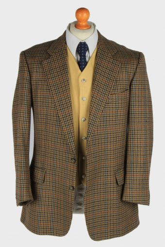 Burberry Mens Blazer Jacket Windowpane Wool Size M Multi -HT3015-166018