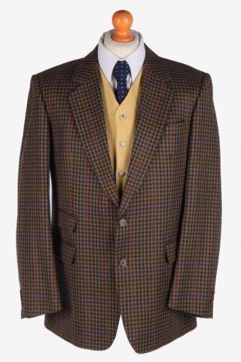 Burberry Blazer Jacket Windowpane Wool L
