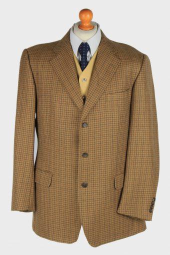 Mens Burberry Blazer Jacket Wool Brown XL