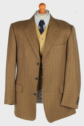 Mens Burberry Blazer Jacket Wool Country Size XL Brown -HT3020-166048