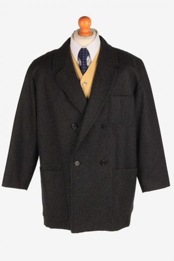 Burberry Mens Blazer Jacket Herringbone Black L