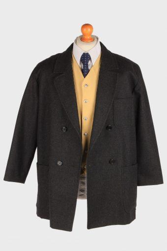 Burberry Mens Blazer Jacket Herringbone Country Size L Black -HT3022-166060