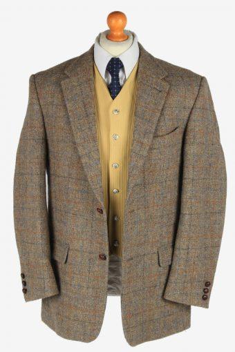 Mens Harris Tweed Blazer Jacket Windowpane Country Size XL Multi -HT3027-166152