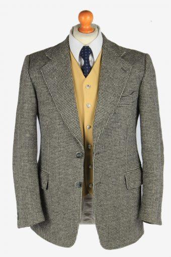 Harris Tweed Mens Blazer Jacket Windowpane Country Size M Grey -HT3028-166158