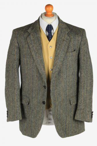 Harris Tweed Mens Blazer Jacket Herringbone Country Size L Multi -HT3029-166164