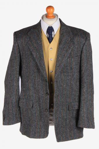 Harris Tweed Mens Blazer Jacket Herringbone Country Size XL Grey -HT3036-166206
