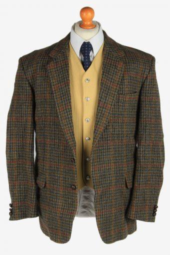 Harris Tweed Mens Blazer Jacket Windowpane Country Size XL Multi -HT3044-166254