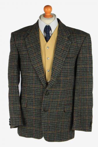 Harris Tweed Blazer Jacket Classic Windowpane XL