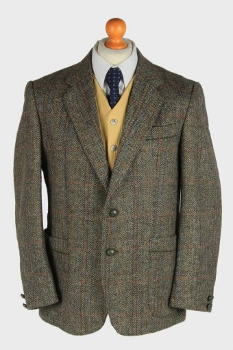 Mens Gronenboch Tweed Blazer Jacket Windowpane M