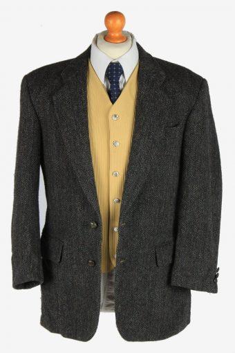 Harris Tweed Mens Blazer Jacket Herringbone Country Size M Dark Grey -HT3065-166384