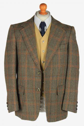 Tweed Mens Blazer Jacket Windowpane Country Size L Multi -HT3079-166468