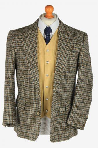 Harris Tweed Mens Blazer Jacket Windowpane Country Size M Multi -HT3089-166528