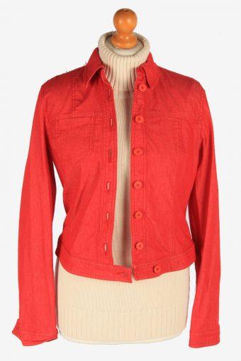 Women's Armani Shirt Jacket Button Up Vintage Size XS Red C3070-163560