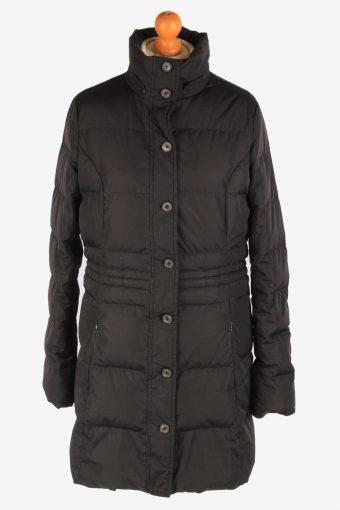 Women's Tommy Hilfiger Padded Jacket Overcoat Lightweight Vintage Size L Black C3074